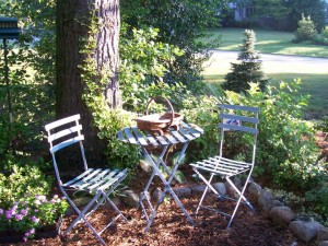 Relax in the shade to reflect on your garden