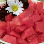 watermelon http://ourfairfieldhomeandgarden.com/elegant-but-simple-company-dinner/