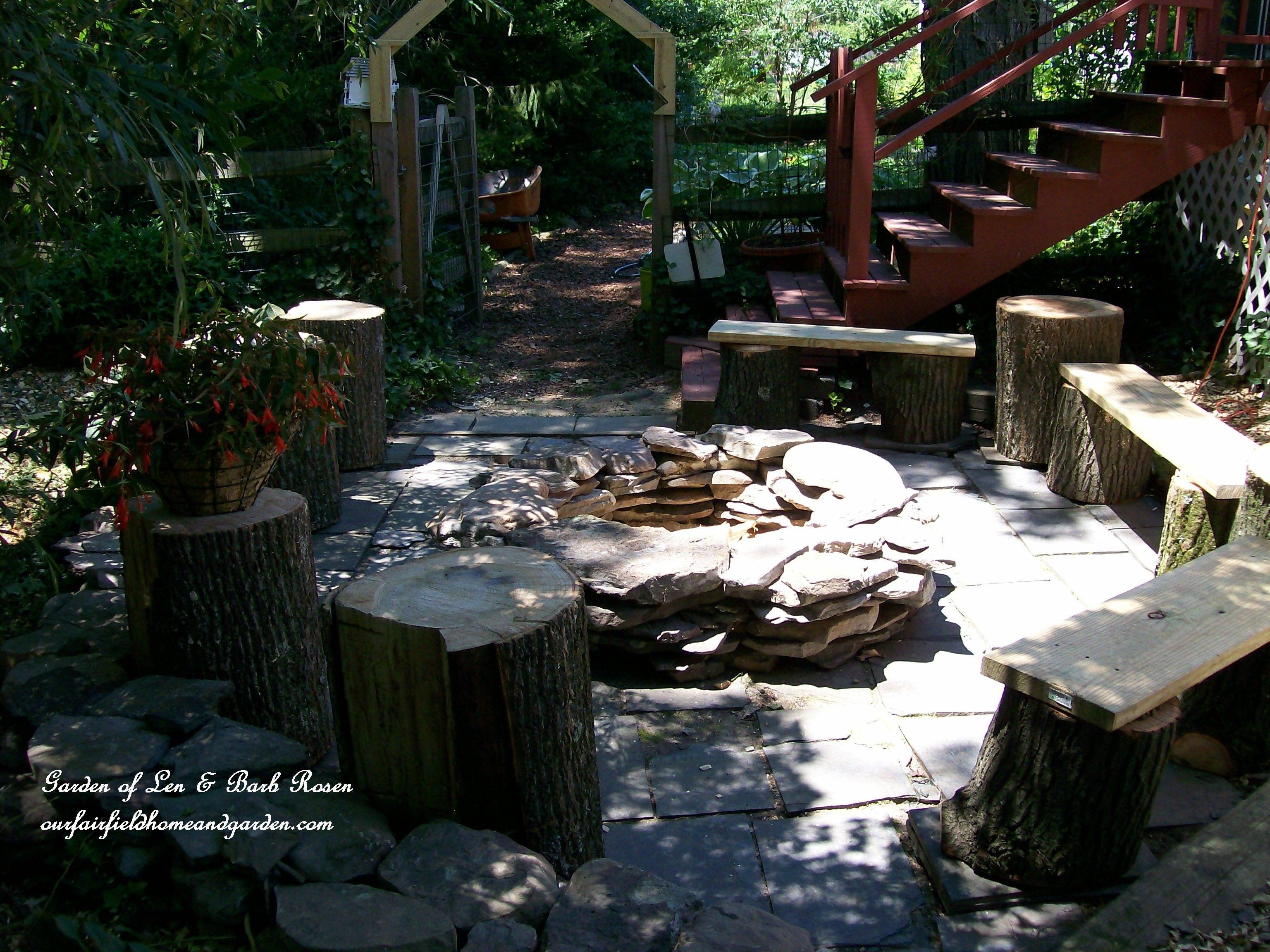 The camp rosen firepit diy project our fairfield home for Fire pit project