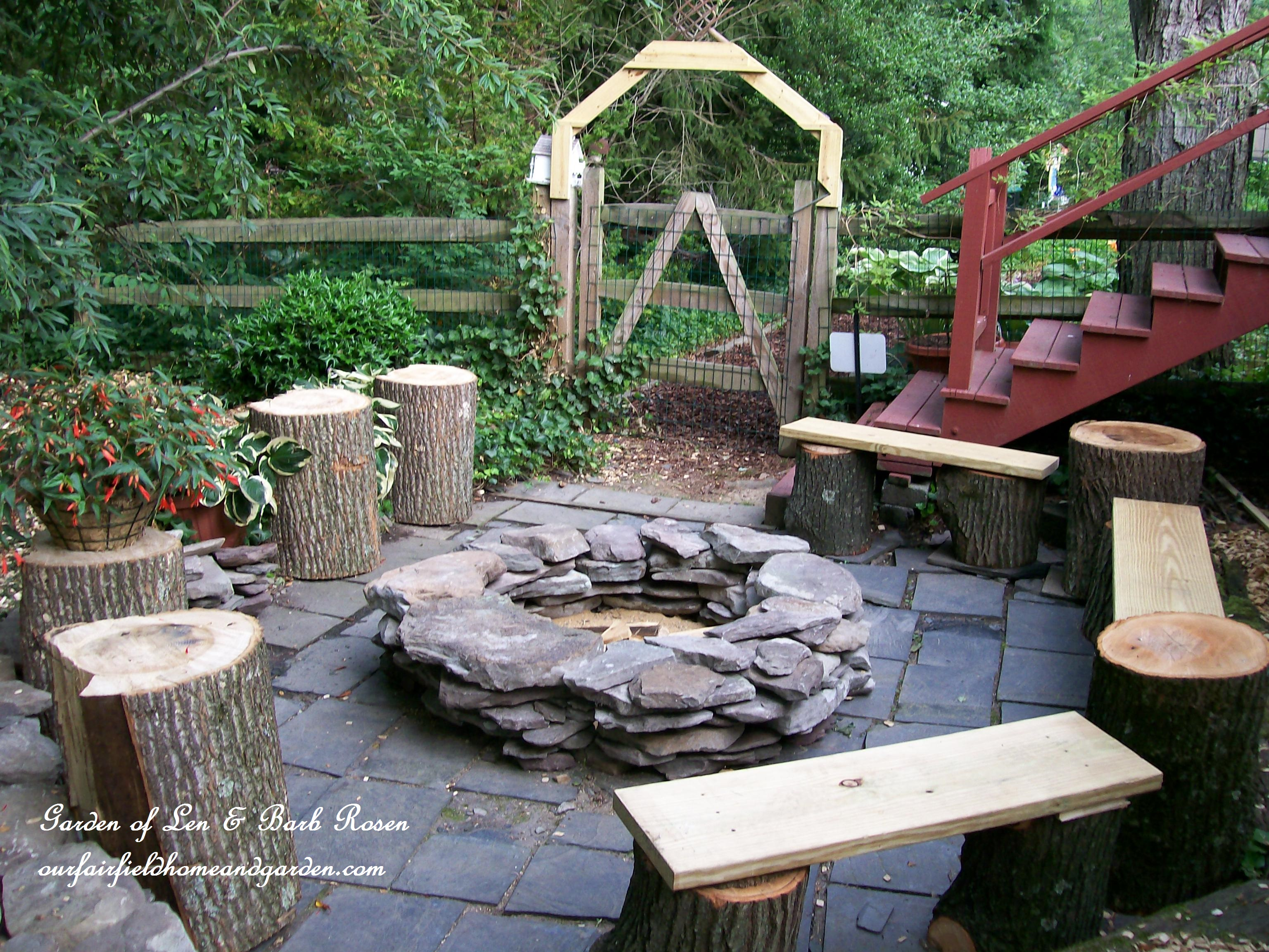 "The Completed Stone Fire Pit Project: The ""Camp Rosen"" Firepit DIY Project"