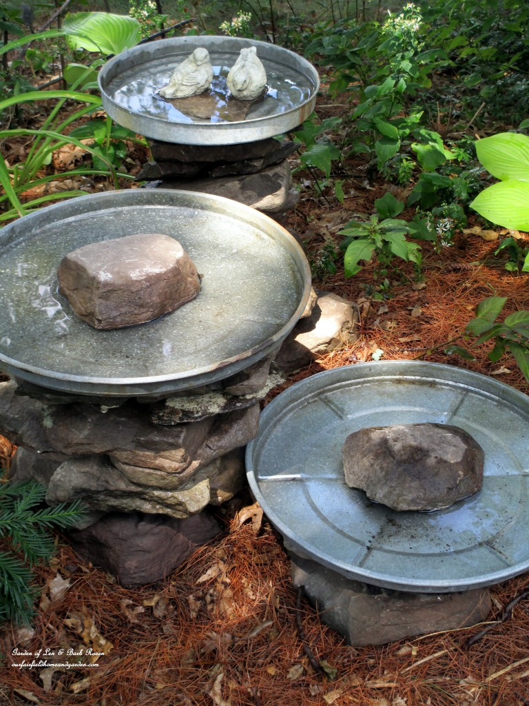DIY Project : Stacked Stone Bird Baths