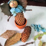 make garden fairies http://ourfairfieldhomeandgarden.com/diy-project-making-fairies-from-natural-materials/