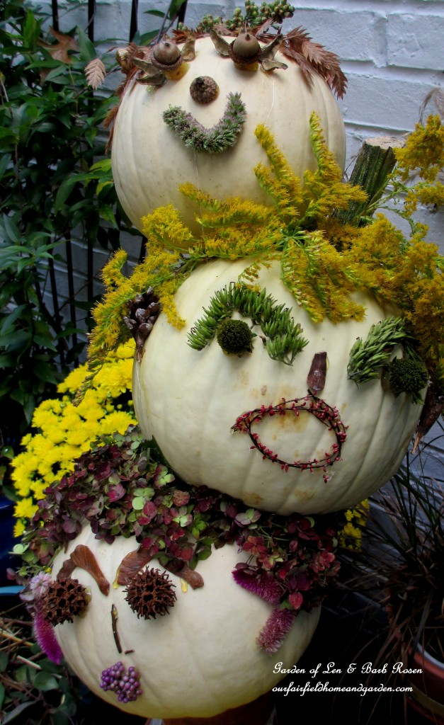 The Tipsy Punkin' Heads https://ourfairfieldhomeandgarden.com/getting-into-the-spirit-of-halloween-insert-spooky-music-here/