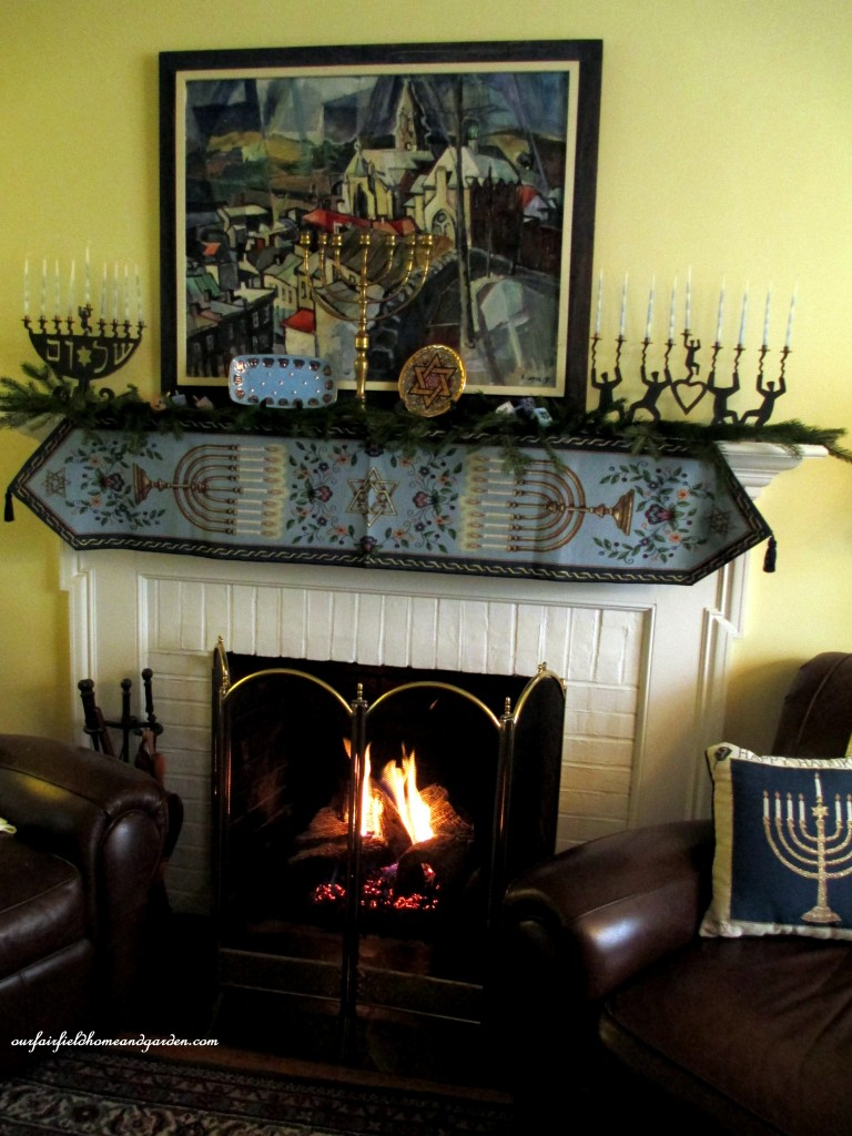 Chanukah decorating https://ourfairfieldhomeandgarden.com/its-beginning-to-look-a-lot-like-chanukah/