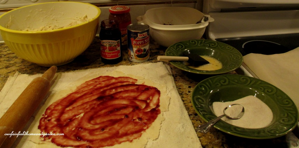 making rugelach cookies http://ourfairfieldhomeandgarden.com/chanukah-recipes-to-die-for/