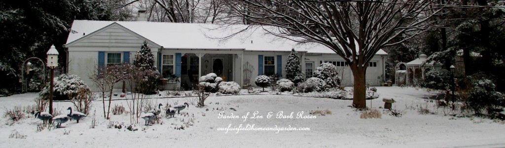 Our snowy Fairfield Home  http://ourfairfieldhomeandgarden.com/winter-wonderland-it-finally-snowed/