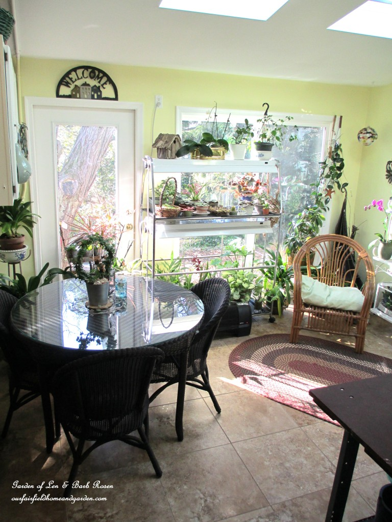 entering the Garden Room from our garage https://ourfairfieldhomeandgarden.com/my-winter-sanctuary-scenes-from-a-garden-room/