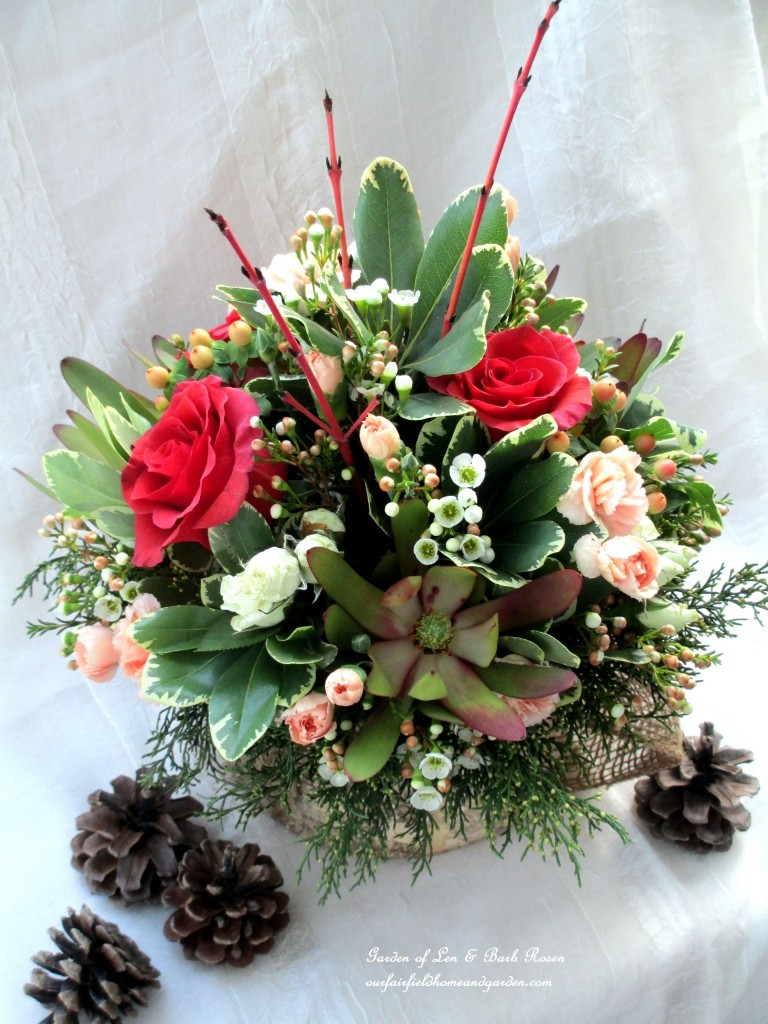 Winter Palette Arrangement https://ourfairfieldhomeandgarden.com/floral-workshop-a-winter-palette/