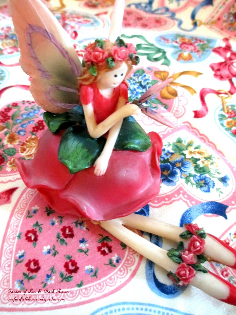 tiny Valentine's fairy https://ourfairfieldhomeandgarden.com/be-my-valentine-valentine-decor/