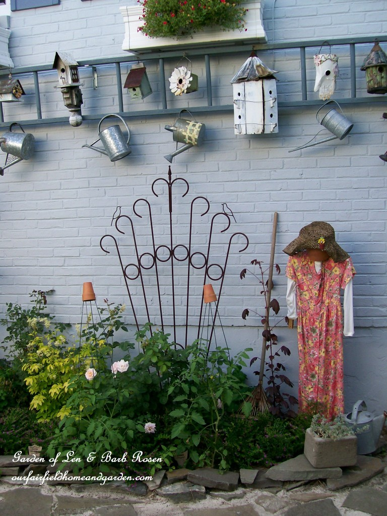 Garden display ladder https://ourfairfieldhomeandgarden.com/a-trip-down-memory-lane-my-former-garden/