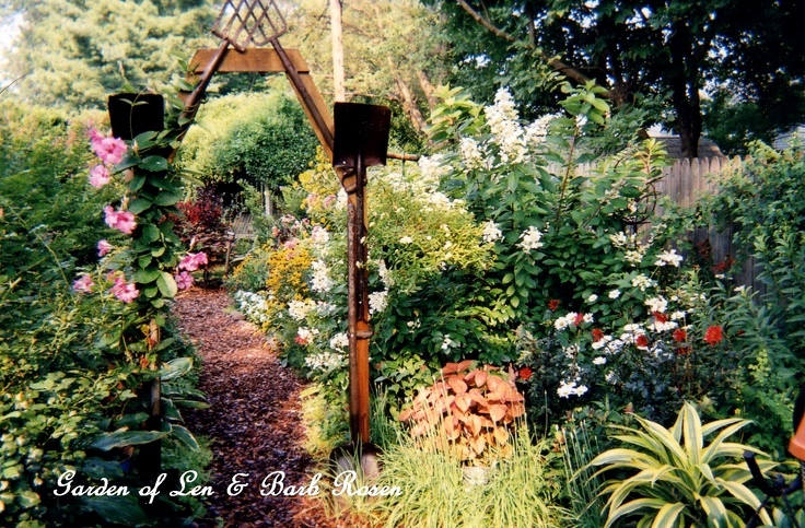 Rusty Tool Arbor http://ourfairfieldhomeandgarden.com/a-trip-down-memory-lane-my-former-garden/