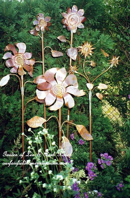 Copper Garden Flowers http://ourfairfieldhomeandgarden.com/a-trip-down-memory-lane-my-former-garden/