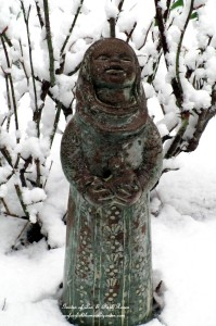 Little Bird Woman in the snow https://ourfairfieldhomeandgarden.com/spring-snow-march-25th-the-groundhog-lied/