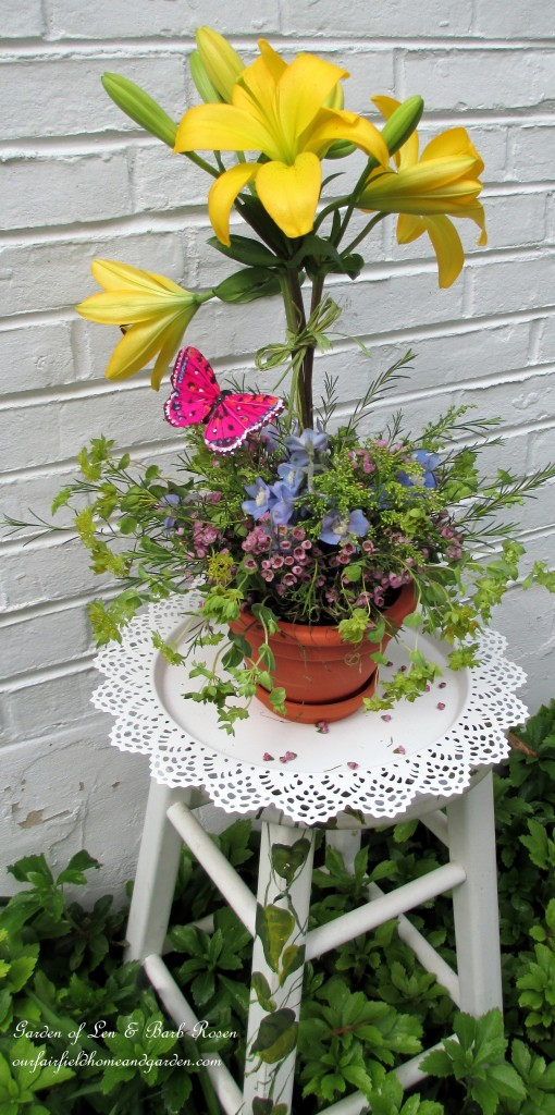 ~ a blooming topiary arrangement ~