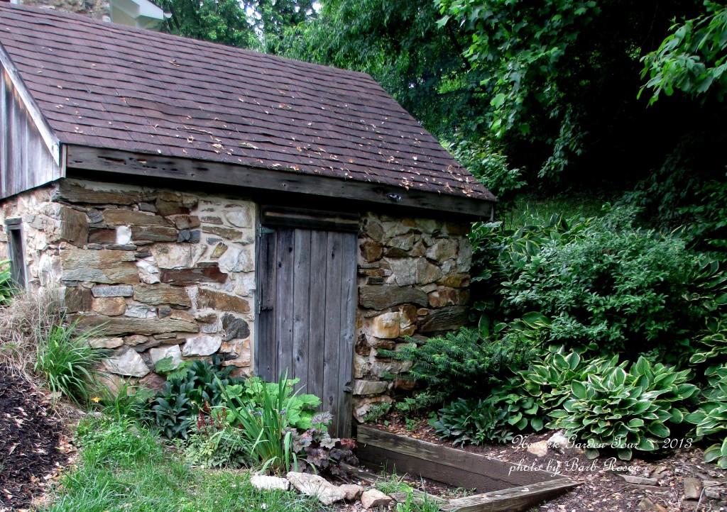 Old Spring House https://ourfairfieldhomeandgarden.com/newark-garden-tour-2013/