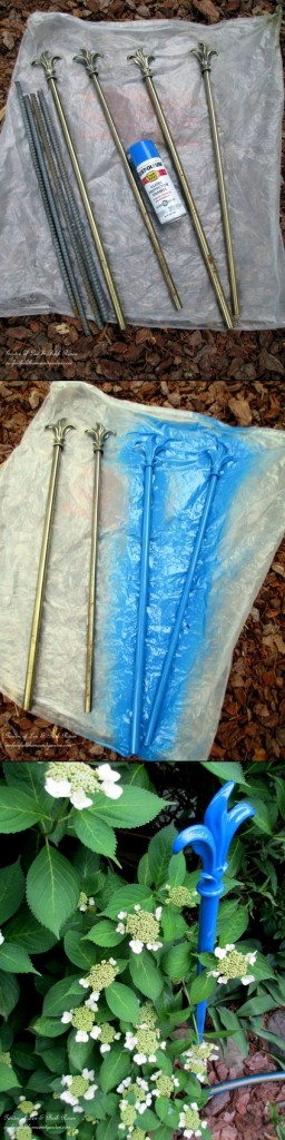 Make Hose Guides From Curtain Rods!