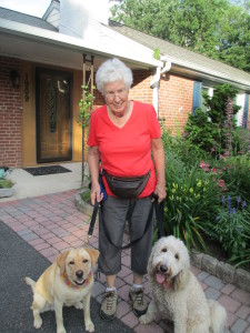 Karin with her constant companions, Maya and Tessie