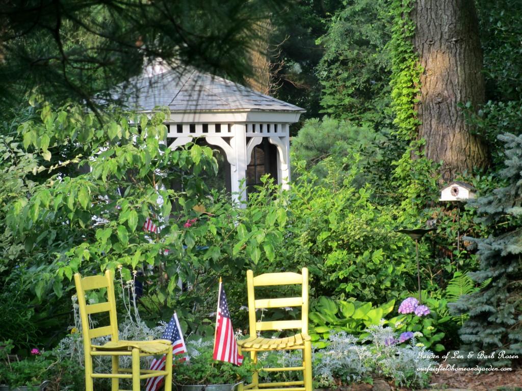 gazebo flowerbed https://ourfairfieldhomeandgarden.com/garden-walk-july-1st/