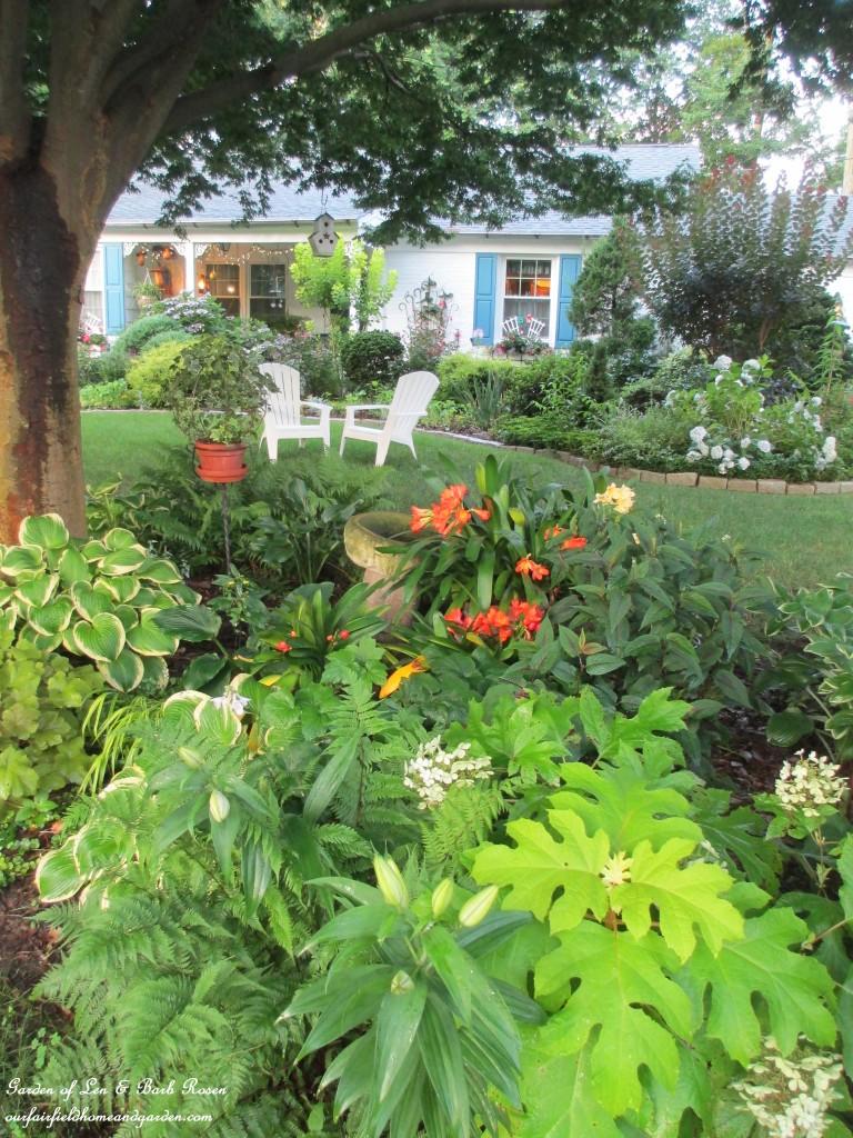 front shady garden bed https://ourfairfieldhomeandgarden.com/garden-walk-my-summer-garden/