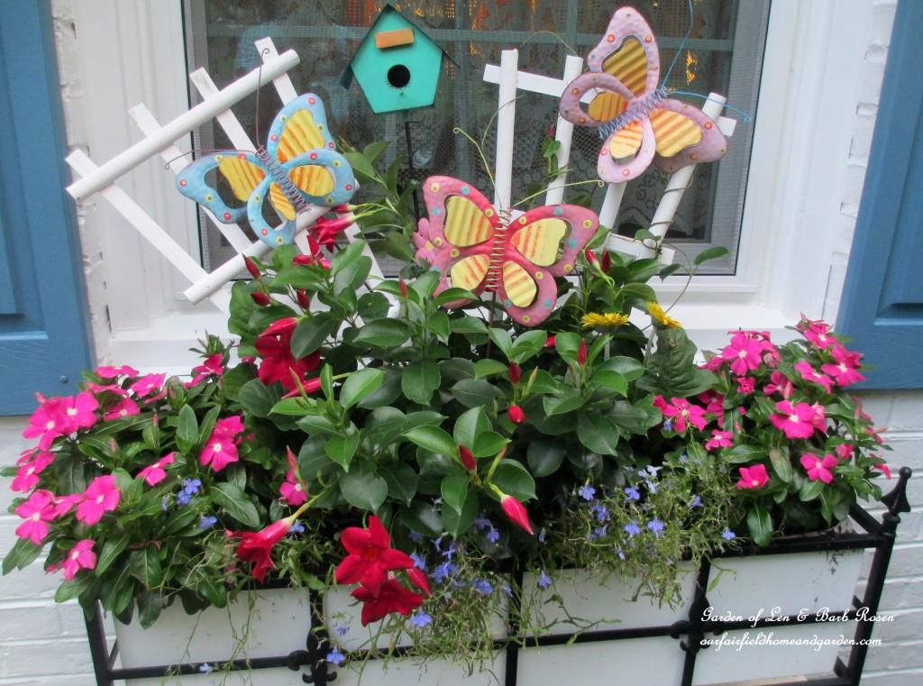 summer window box https://ourfairfieldhomeandgarden.com/garden-walk-my-summer-garden/