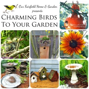 CharmingBirdsToYourGarden http://ourfairfieldhomeandgarden.com/its-all-about-the-birds-birdfeeders-birdbaths-and-birdhouses-in-our-garden/