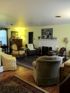 Before ~ too much like my Grandma's house! http://ourfairfieldhomeandgarden.com/livingroom-makeover-grandma-to-grandeur/