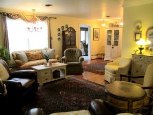Before ~ pretty but dated https://ourfairfieldhomeandgarden.com/livingroom-makeover-grandma-to-grandeur/