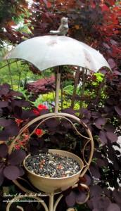 Birdfeeders http://ourfairfieldhomeandgarden.com/its-all-about-the-birds-birdfeeders-birdbaths-and-birdhouses-in-our-garden/