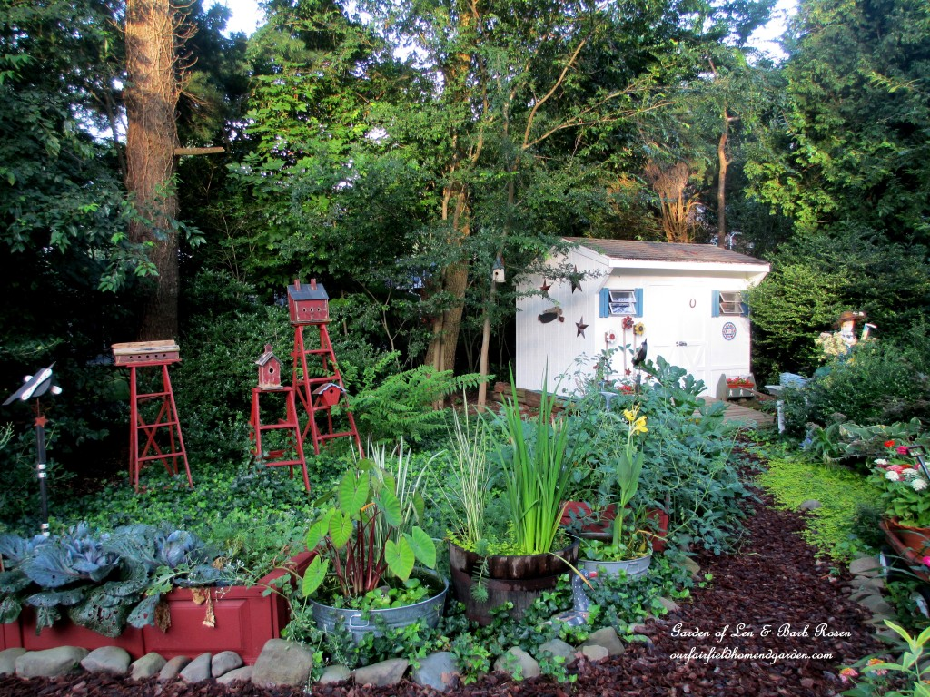 back by the garden shed https://ourfairfieldhomeandgarden.com/garden-walk-my-summer-garden/