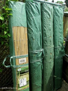 Split Bamboo Fencing/Screening in 13 ft X 5 ft rolls (comes in different sizes)