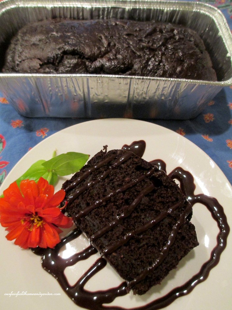 Chocolate Zucchini Cake https://ourfairfieldhomeandgarden.com/the-giant-zucchini-dilemma/
