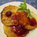 Zucchini fritters https://ourfairfieldhomeandgarden.com/the-giant-zucchini-dilemma/