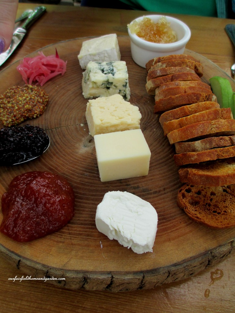 Styer's Cafe cheese plate