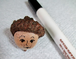 Step 1 ~ Draw the face http://ourfairfieldhomeandgarden.com/diy-project-fairies-for-free/