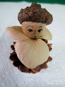 Step 2 ~ Glue on collar & head http://ourfairfieldhomeandgarden.com/diy-project-fairies-for-free/