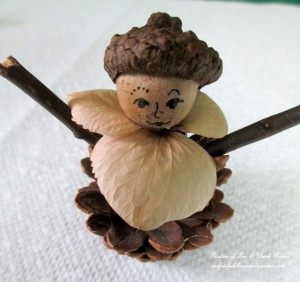 Step 3 ~ Add twig arms http://ourfairfieldhomeandgarden.com/diy-project-fairies-for-free/