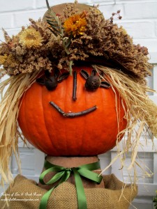 Pumpkin Lady for Fall! http://ourfairfieldhomeandgarden.com/fall-is-in-the-air/