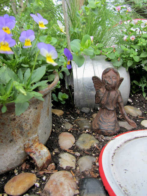 Fairies can be quite picky about their gardens. Click here to see what happened in this vintage themed fairy garden!