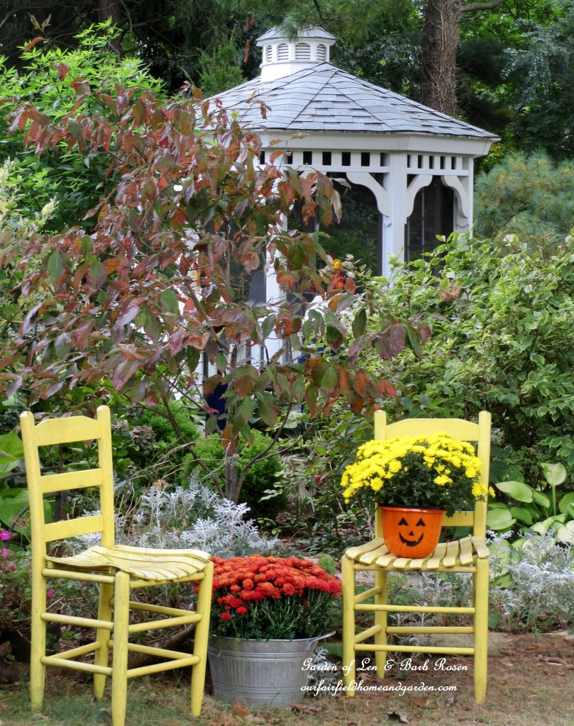Fall Gazebo Garden http://ourfairfieldhomeandgarden.com/fall-decorating-at-our-fairfield-home-and-garden/
