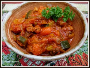 Moroccan Vegetable Stew https://ourfairfieldhomeandgarden.com/home-cooking-moroccan-vegetable-stew-meat-less-meal-or-hearty-side-dish/