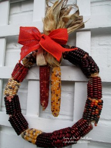 My version of the corn cob wreath made for just $4.00 !