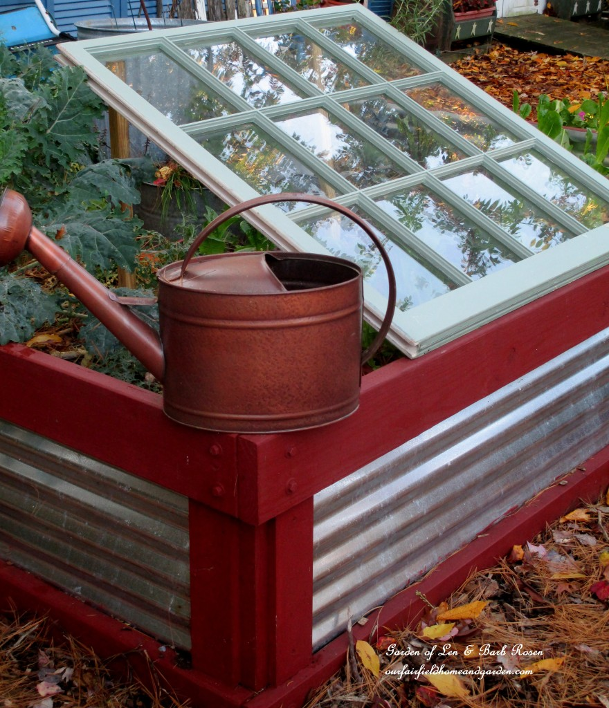 Old Window Lean-To Cold Frame