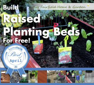 Raised Garden Beds http://ourfairfieldhomeandgarden.com/diy-project-raised-beds-for-free/