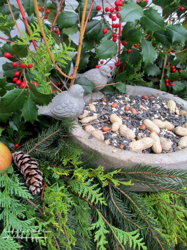 Winter Bird Feeder https://ourfairfieldhomeandgarden.com/winter-decorating-at-our-fairfield-home-garden/