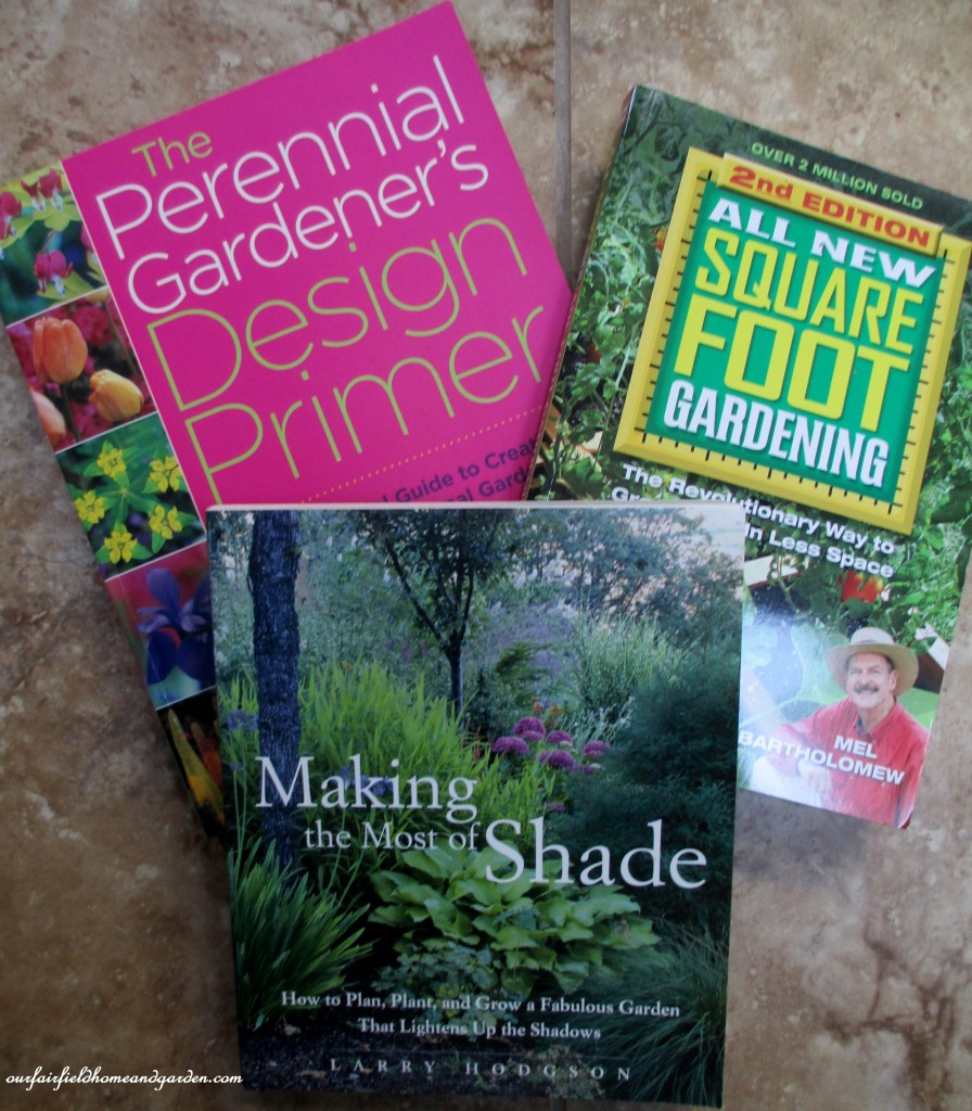 gardening books http://ourfairfieldhomeandgarden.com/winter-comforts-at-our-fairfield-home-garden/