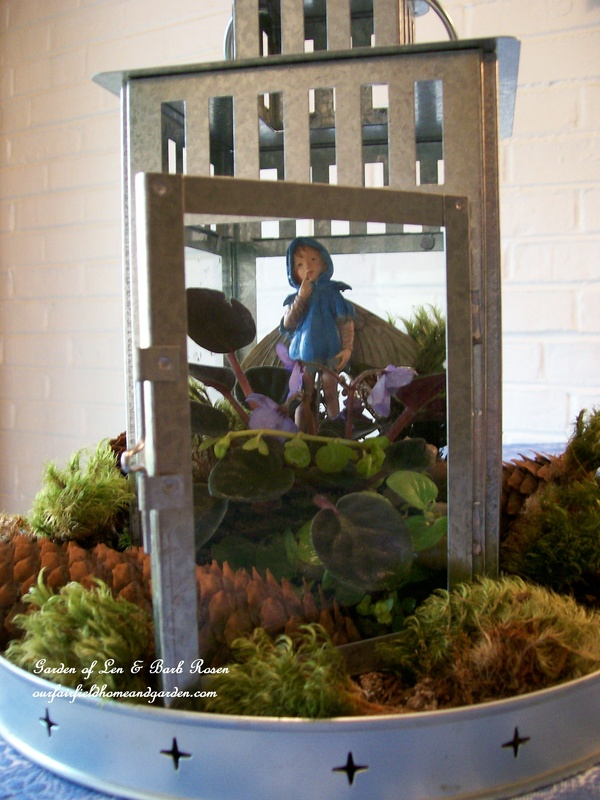 fairy-in-Ikea-lantern http://ourfairfieldhomeandgarden.com/diy-project-create-your-own-fairy-terrarium/