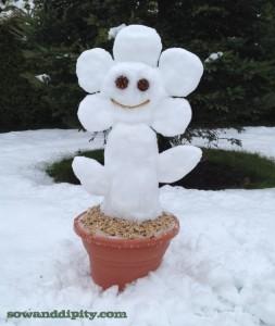 snowflower http://www.hometalk.com/2749836/snowman-gardener-style