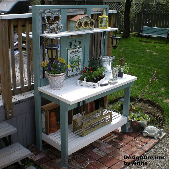 potting bench http://www.hometalk.com/designdreamsbyanne