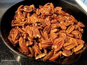 toasted pecans http://ourfairfieldhomeandgarden.com/valentines-day-recipes-heart-healthy-winter-salad-mini-berry-bundt-cakes/