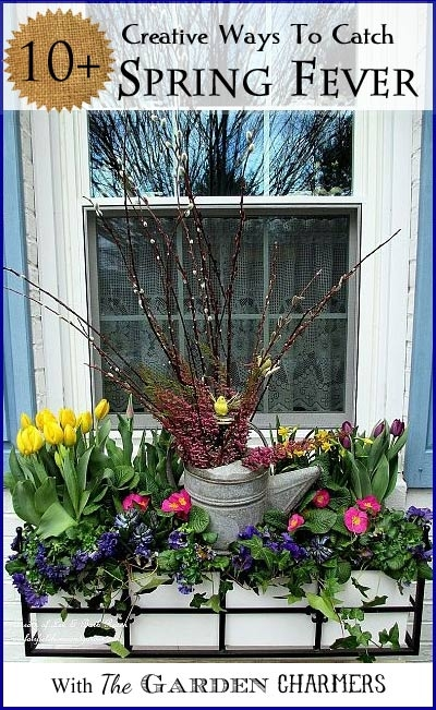 10-Ways-To-Catch-Spring-Fever-with-The-Garden-Charmers http://ourfairfieldhomeandgarden.com/spring-fever/